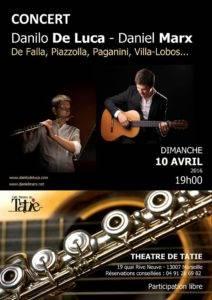 Affiche Danilo de Luca et Daniel Marx - avril2016