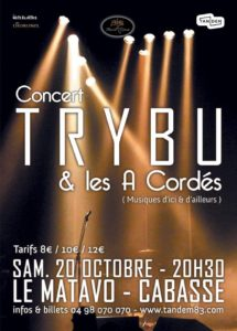 Affiche concert TRYBU 20 oct 2018 Cabasse