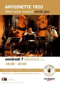Afiche Antoinette Trio 7 dec 2018 Casa Corsina