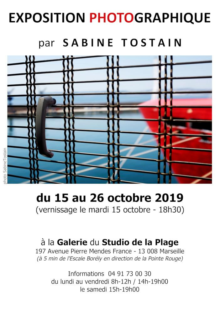 Flyer Exposition Sabine Tostain Marseille Octobre 2019