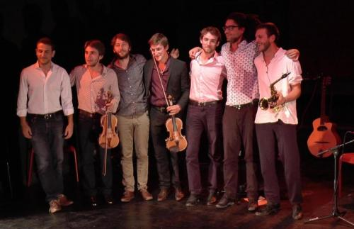 Fred et son frère et Gala Swing Quartet, photo Sabine Tostain